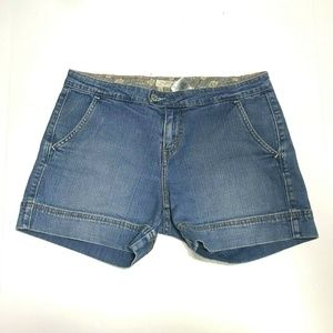 Levi's 6 545 Low Rise Light Wash Denim Jean Shorts